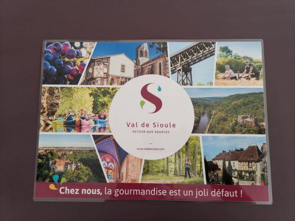 Set de table © OT Val de Sioule